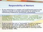 responsibility of mentors