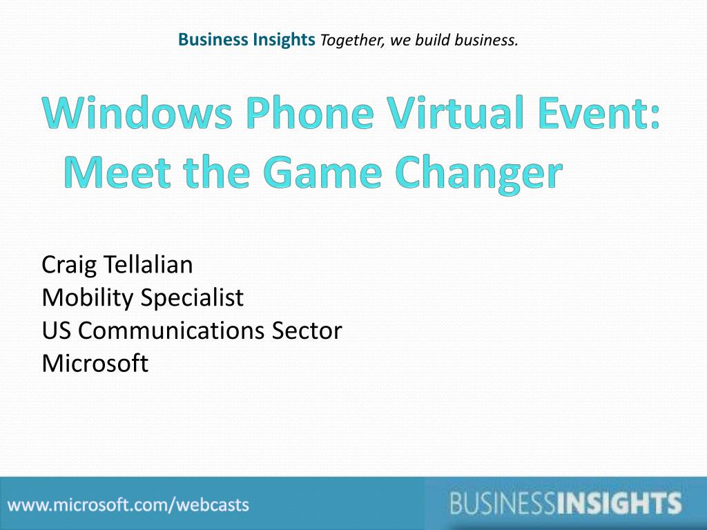 windows phone virtual event meet the game changer l.