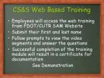 cs s web based training