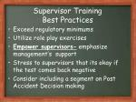 supervisor training best practices