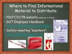 where to find informational material to distribute
