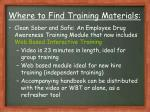 where to find training materials