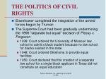 the politics of civil rights64