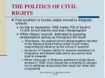 the politics of civil rights66