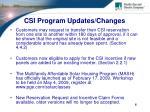 csi program updates changes