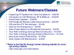 future webinars classes