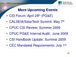 more upcoming events