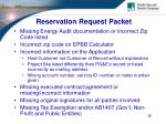 reservation request packet