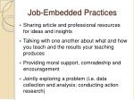 job embedded practices