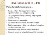 one focus of ilts pd