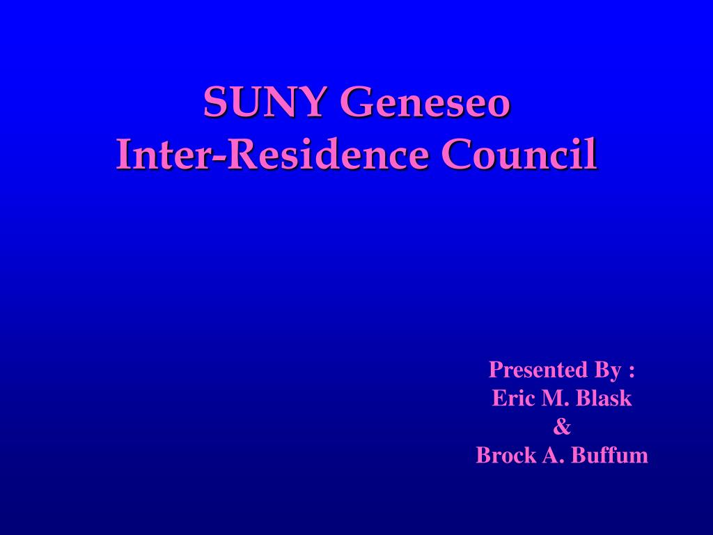suny geneseo inter residence council l.