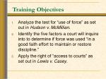 training objectives21