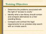 training objectives22