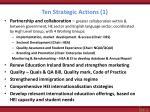 ten strategic actions 1