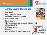 healthy living messages