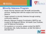 minority veterans program
