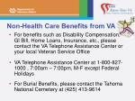 non health care benefits from va