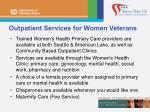outpatient services for women veterans