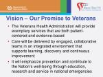 vision our promise to veterans