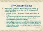 19 th century dance
