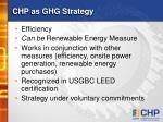 chp as ghg strategy