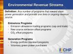 environmental revenue streams