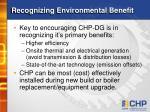recognizing environmental benefit