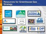 resources for greenhouse gas strategy