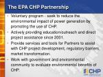 the epa chp partnership