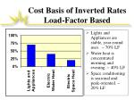 cost basis of inverted rates load factor based