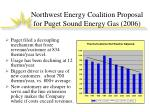 northwest energy coalition proposal for puget sound energy gas 2006