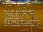 general conclusions for the ghg problem