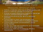 recommended policies kyoto measures american style