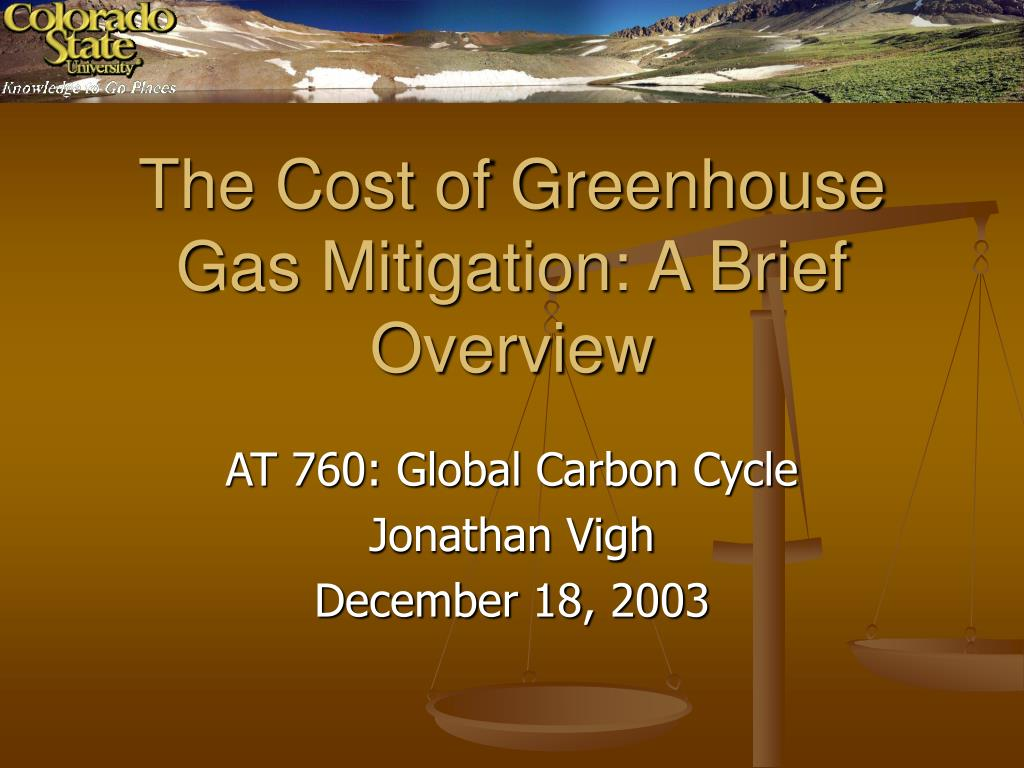 the cost of greenhouse gas mitigation a brief overview l.