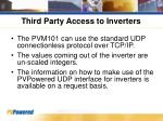 third party access to inverters