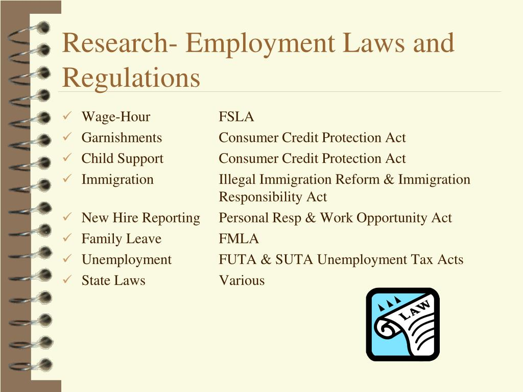 Research- Employment Laws and Regulations