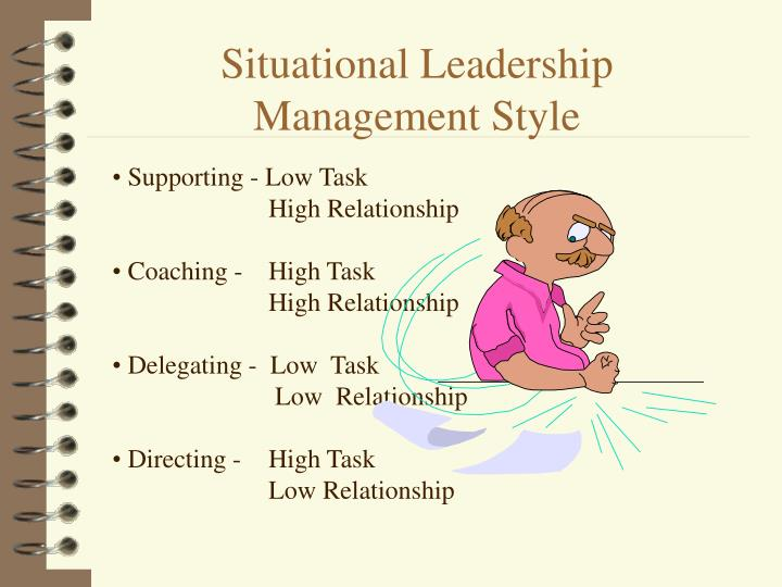 Situational leadership management style