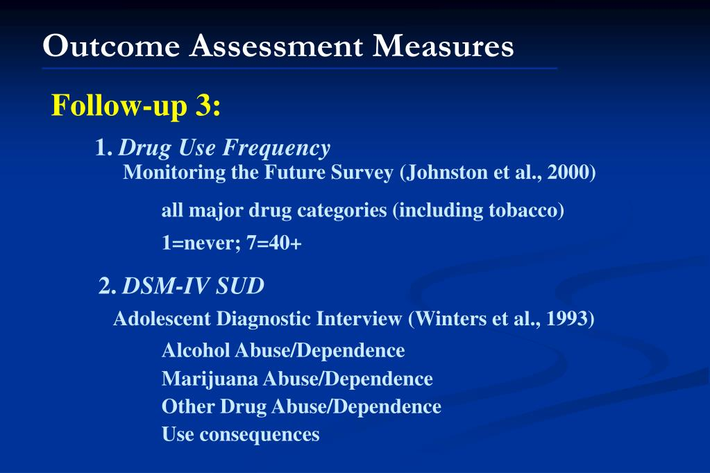 Outcome Assessment Measures