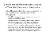 liberal institutionalist and the evolution of cold war superpower cooperation13