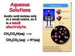 aqueous solutions6