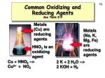 common oxidizing and reducing agents see table 5 4