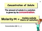 concentration of solute