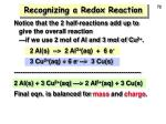 recognizing a redox reaction72