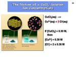 the nature of a cucl 2 solution ion concentrations