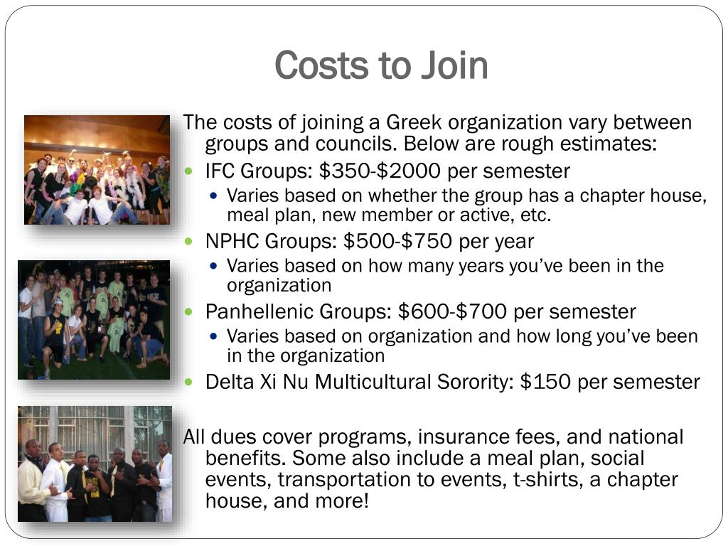 Costs to Join