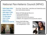 national pan hellenic council nphc