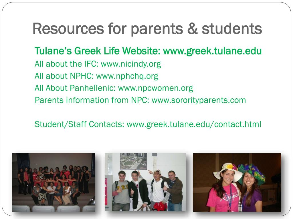 Resources for parents & students