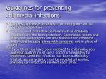 guidelines for preventing chlamydial infections