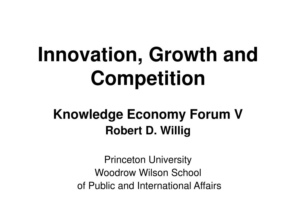 innovation growth and competition l.
