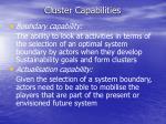 cluster capabilities18
